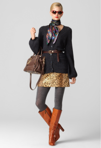 Falda corta en animal print Milly