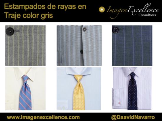 C mo combinar un traje gris de rayas david navarro for Que color asociar con el gris claro