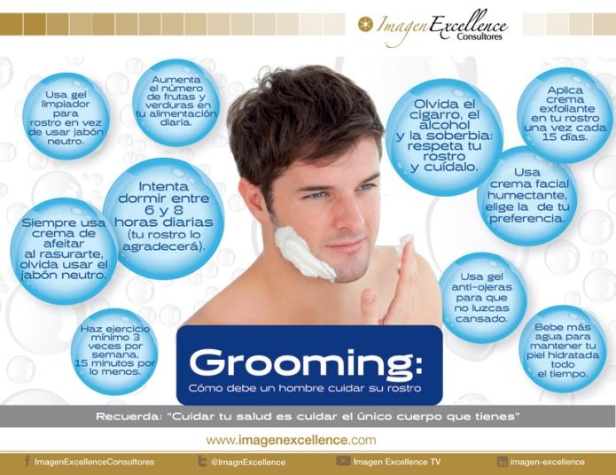 Grooming_Infografia_Como debe un hombre cuidar su cara