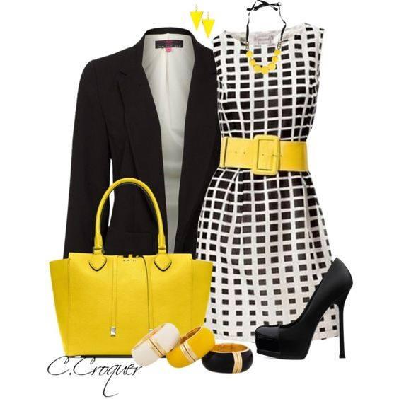 bolso_amarillo_zapatos_negros