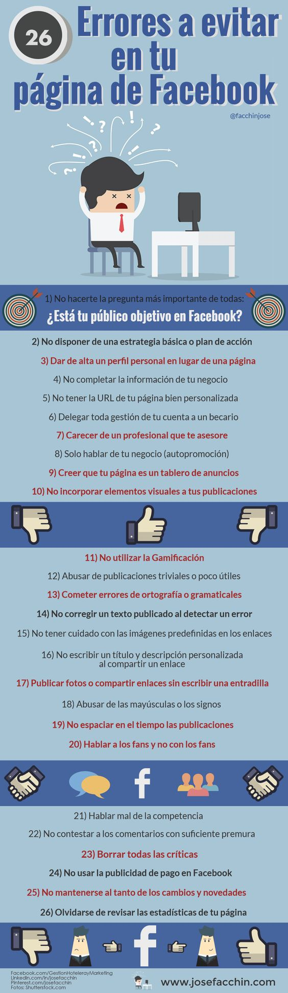 Errores en facebook
