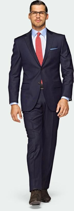 Navy Blue Suit Brown Shoes Interview
