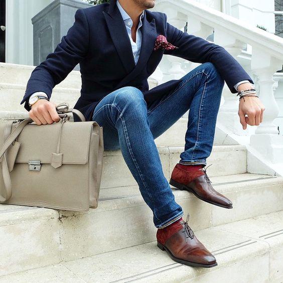 Calcetines de color y jeans