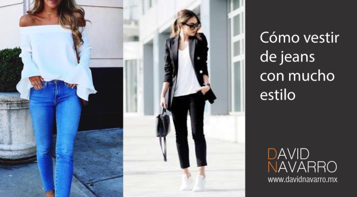 45ba0b3073bd1 10 maneras para vestir jeans con mucho estilo – Asesor de Imagen y ...