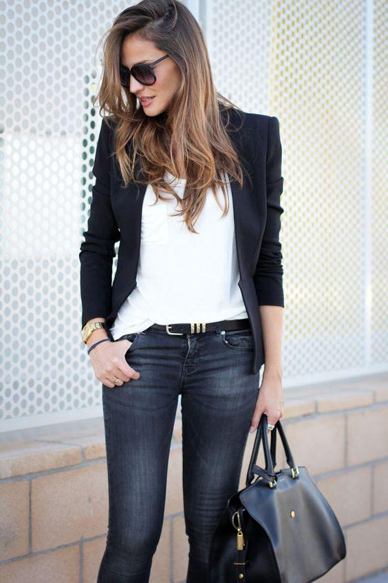Como vestir de jeans y saco formal